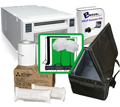 "Mitsubishi CPD70 Dye-Sub Photo Printer with Breeze DSLR Remote Pro 3.0 Photobooth-Greenscreen Software, 10x10'ft Green Screen Kit, Padded Carrying Case and 4x6"" Media Box Bundle CPD70-Breeze-Case-GS-4x6"