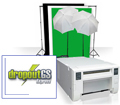 Small Photo & GreenScreen Studio Set with CPD70DW Printer and DropoutGS PRO Software BUNDLE CPD70DWSmallStudioBundle
