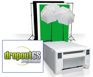 Small Photo & GreenScreen Studio Set Up Kit with Mitsubishi CPD70DW Printer CPD70DWSmallStudioKit