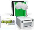 Small Photo & GreenScreen Studio Set Up Bundle with Mitsubishi CPD70DW Printer