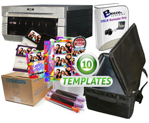 DNP DS40 Dye-Sub Photo Printer w/Breeze Systems Software, Padded Carrying Case, 4x6 Media Box and 10 Templates Bundle DS40-Breeze-Case-4x6