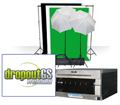 Small Photo & GreenScreen Studio Set with DS40 Printer and DropoutGS PRO Software BUNDLE DS40SmallStudioBundle