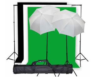 Complete Studio GreenScreen 10x10ft Photo Studio Kit KitK01