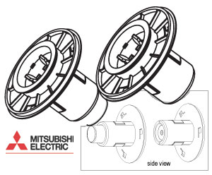 Mitsubishi Set of Two Paper Flanges for the CPD70DW and CPD707DW printers FL-D70