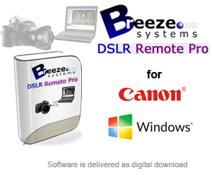 Breeze DSLR Remote Pro Photobooth Software for Windows - for Canon DSLR Cameras (AVAILABLE WITH PHOTO BOOTH BUNDLES ONLY) breezedslr-win