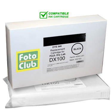 Compatible Fuji DX100 Black Ink Cartridge - 200ML WDKC-251