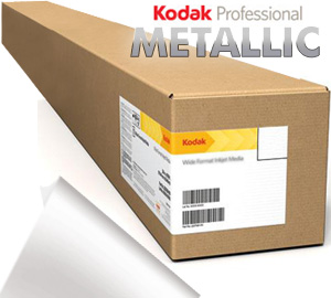 "Kodak Professional 36""inx100'ft Inkjet Metallic Photo ROLL Paper - 255gsm 3"" Core KPRO36MTL"