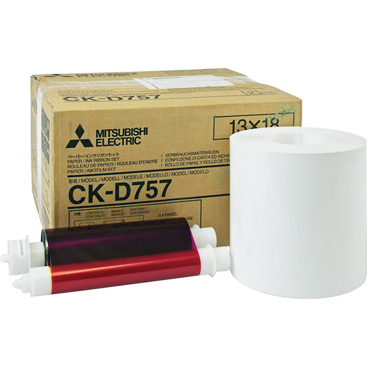 "Mitsubishi CK-D757 5""x7"" media for the CP-D70DW, CP-D707DW, CP-D80DW and CP-D90DW printers - 460 total prints CKD757"