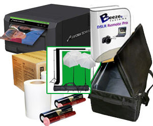 "Sinfonia CS2 Photo Printer w/ Breeze DSLR Remote Pro Photobooth-Greesncreen Software, 10x10'ft Green Screen Kit, Padded Carrying Case, 4x6"" Media Box Bundle CS2-Breeze-4x6-GS-case"