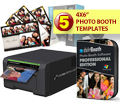 Sinfonia Color Stream CS2 Dye Sub Photo Printer with a dslrBooth Pro Photo booth Software and Five Template Bundle CS2-dslrBooth