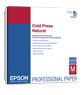 "Epson S042300 Cold Press Natural Paper 13""x19"" (25 sheets)"