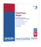 "Epson Cold Press Bright Textured Matte Paper  13"" x 19""in (25 Sheets )"