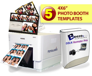 DNP RX1 Digital Photo Printer, Breeze Systems Photo Booth Software and Five Template Bundle DSRX1-Breeze-5TEMP