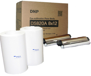 "DNP DS820A 8x12"" Printer Media Kit 2 Rolls - 220 Prints DS820(8x12)PP"