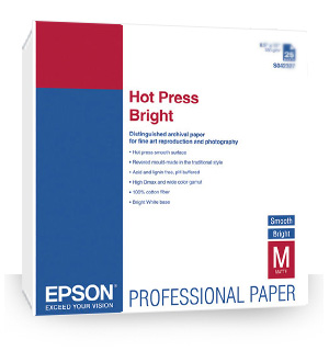 Epson S042327 Hot Press Bright Paper 8.5x11