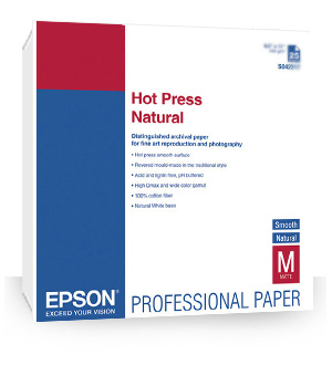 "Epson Hot Press Natural Paper 13"" x 19"" (25 sheets) S042320"