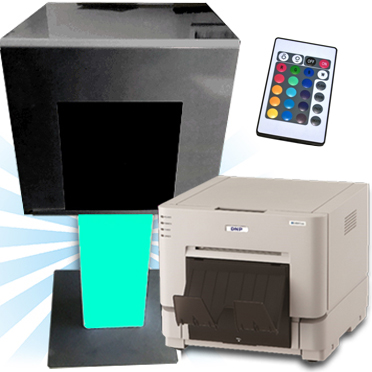 DNP RX1HS Dye Sub Photo Printer with a Large Black Printer Stand and Cover Bundle DSRX1HS-STANDCVR-LBK