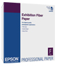 "Epson S045033 Exhibition Fiber Paper 8.5""x11"" - 25 Sheets"