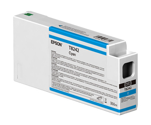 Epson UltraChrome HD Cyan T824200 Ink Cartridge - 350ml T824200