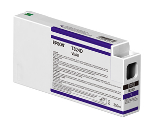 Epson UltraChrome HDX Violet T824D00 Ink Cartridge - 350ml for P-series Commercial Edition printers T824D00