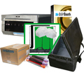 "DNP DS40 Photo Printer w/ dslrBooth Pro Photobooth Software, 10x10'ft Green Screen Kit, Padded Carrying Case, 4x6"" Media Box Bundle DS40-dslrBooth-GreenKit-Case-4x6"