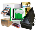 "DNP RX1 Photo Printer w/ dslrBooth Pro Photobooth Software, 10x10'ft GreenScreen Kit, Padded Carrying Case, 4x6"" Media Box Bundle RX1-dslrBooth-GreenKit-Case-4x6"