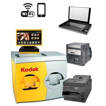 "KODAK Picture 36"" Kiosk G4XL II Digital Station - 120V with a G4XLII Order Station, (1)-Print Scanner, (1)-Kodak 8810 Printer, (1)-Kodak 6850 Printer, WiFi 147 7827 ( 1477827 )"