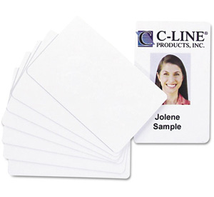 PVC ID Badge Card for HiTi CS-220e and Cs200 printers (3 3/8 x 2 1/8, White, 100/Pack) CLI89007