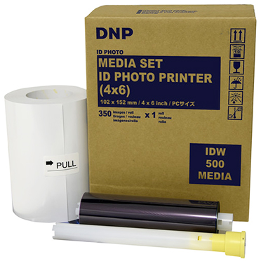 DNP 4x6 Single Packaged Roll ID Media for DNP IDW500 printer - 1 roll - 350 total prints per roll IDW5004x6