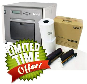 """2 rolls per box 500 prints per roll HiTi P520L P525L Printers 4x6/"""" Print Kit"""