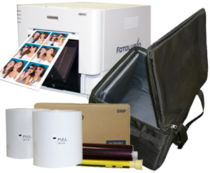 DNP RX1HS Dye Sub Photo Printer with RX1HS 4x6' Printer Media (1400 prints) and Printer Carrying Case Bundle DSRX1HS-4x6-CASE