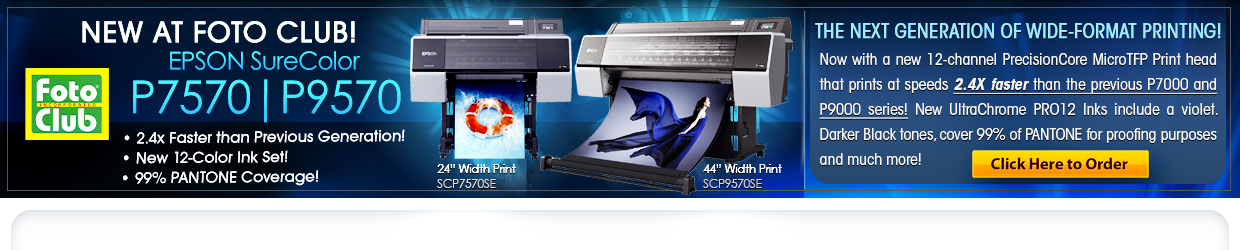 NEW EPSON P7570 and P9570 PRINTERS
