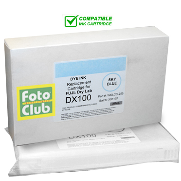 Compatible Fuji DX100 Light Cyan (SKY BLUE) Ink Cartridge - 200ML WDLCC-255