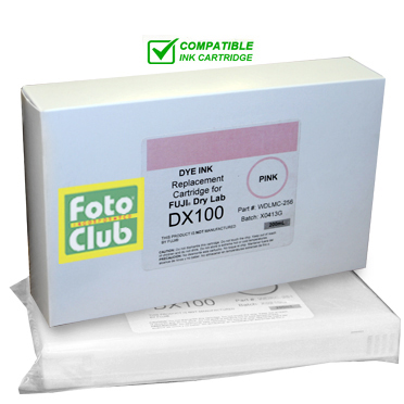 Compatible Fuji DX100 Light Magenta (PINK) Ink Cartridge - 200ML WDLMC-256