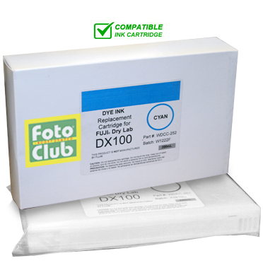 Compatible Fuji DX100 Cyan Ink Cartridge - 200ML WDCC-252