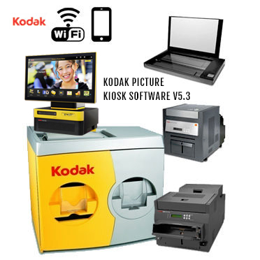 "KODAK Picture Kiosk G20 36"" Print Station 120v - (1)-68XX Photo Printer, (1)-88XX Photo Printer, (1)-Print Scanner, G20 OS Kiosk, WiFi 160-3075 (1603075)"