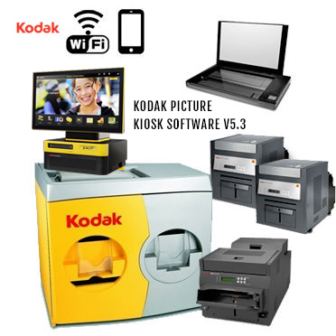 "KODAK Picture Kiosk G20 36"" Print Station 120v - (2)-Dual 68XX Photo Printers, (1)-88XX Photo Printer, (1)-Print Scanner, G20 OS Kiosk, WiFi 187-5434 (1875434)"