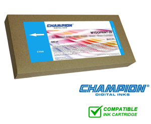 Champion Mydoprint 50 Inkjet Cartridge for Fuji DL410, 430 & 450 - Cyan 500ml 50-CY-P2