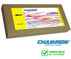 Champion Mydoprint 50 Inkjet Cartridge for Fuji DL410, 430 & 450 - Yellow 500ml 50-YE-P4