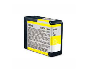 Epson UltraChrome K3 Ink Cartridge Yellow - Epson 3800 / 3880 80ml cartridge T580400