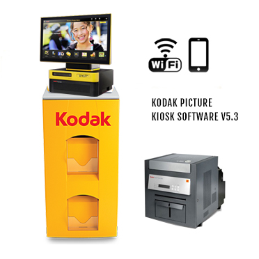 "KODAK Picture Kiosk G20 17"" Print Station 120v - (1)-68XX Photo Printer, G20 OS Kiosk, WiFi 108-2668 (1082668)"