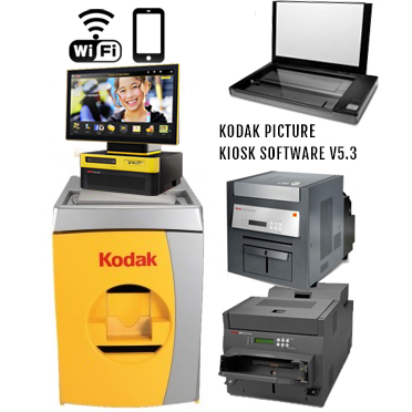 "KODAK Picture Kiosk G20 24"" Print Station 120v - (1)-68XX Photo Printer, (1)-88XX Photo Printer, (1)-Print Scanner, G20 OS Kiosk, WiFi 123-6660 (1236660)"