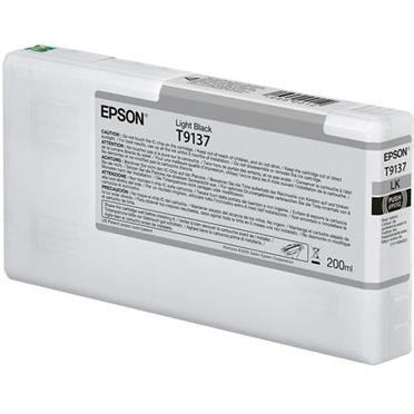 Epson UltraChrome HDX LIGHT BLACK Ink Cartridge - 200 ml T913700