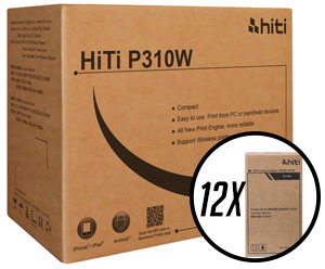 "HiTi P310W 4x6"" Media Case with 12 print packs) - 720 total prints 87.1401.15XT"
