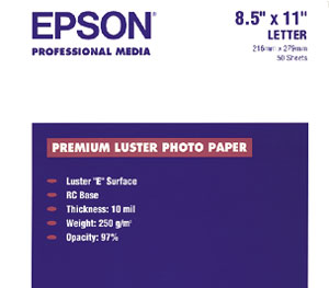 Epson Luster Photo Paper S041405