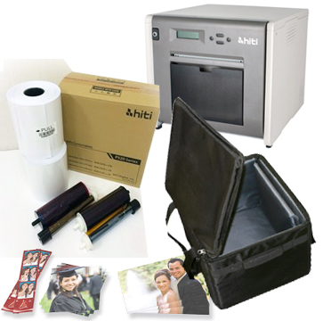 HiTi P525L Dye Sub Photo Printer, Soft Printer Carrying Case & 4x6 Ribbon & Paper Case - 1000 Prints Bundle 88.D2035.01AT-4x6-CASE
