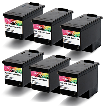 Impressa IP60 DYE-BASED Color Ink Cartridge 6-Pack Set 053488