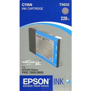 Epson T603200 ink cartridge cyan