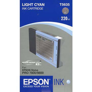 Epson T603500 ink cartridge light cyan