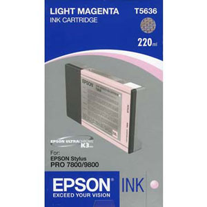Epson Light Magenta Ink (220ml) For Epson 7800/9800 T603C00